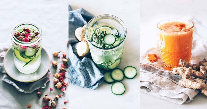 Infusion detox boisson chouette détox citron une boisson detox ventre plat trois idées infusion eau