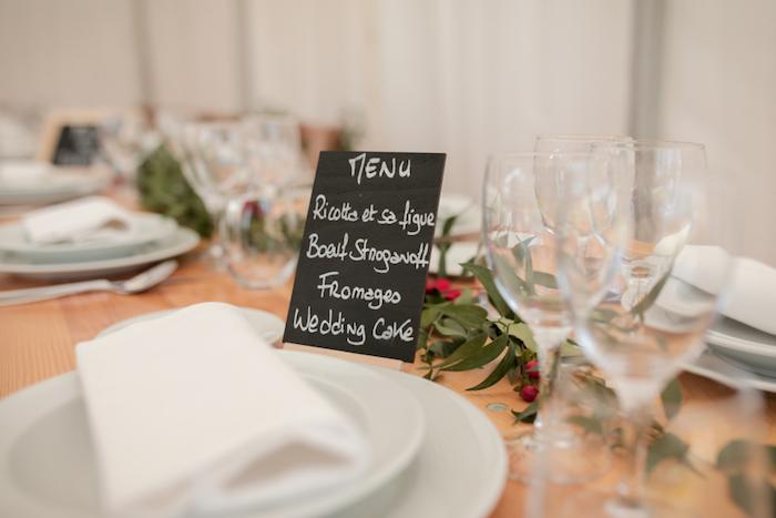 Menu mariage centre de table mariage décoration salle de mariage menu sur ardoise cool idée originale déco