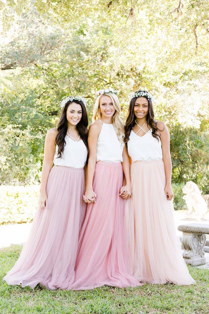 S'habiller bien pour le mariage de sa meilleure amie demoiselle d'honneur rose robe champetre élégante
