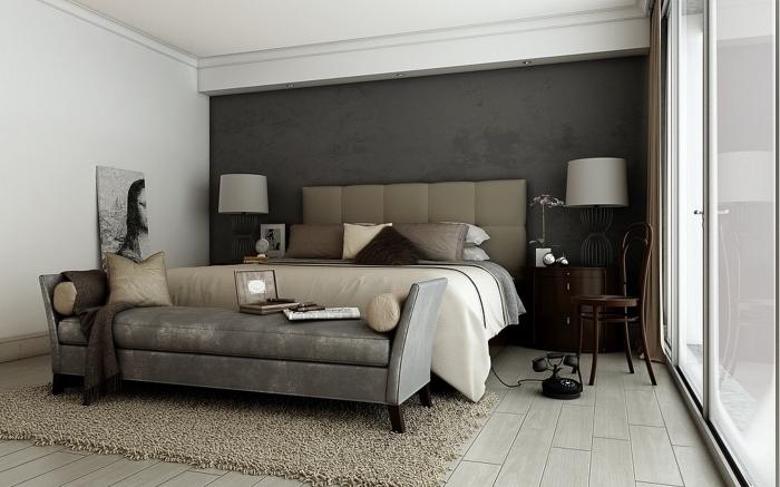 comment combiner les couleurs terrestres dans une chambre à coucher adulte avec meubles design moderne et luxueux