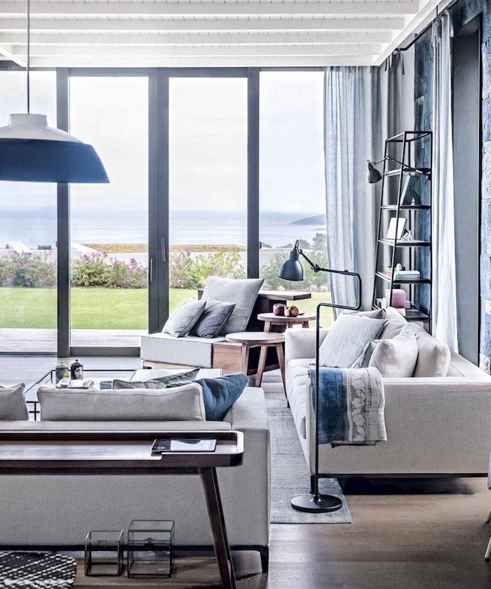 Papier peint salle à manger idee deco peinture salon image tendance magnifique vue déco moderne appartement vaste