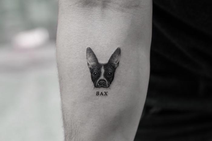 exemple de tatouage homme discret avec un dessin en encre d'inspiration animal, modèle de petit dessin en encre