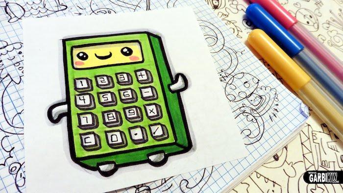 Dessin de calculateur mignon dessin de chaton trop mignon et simple