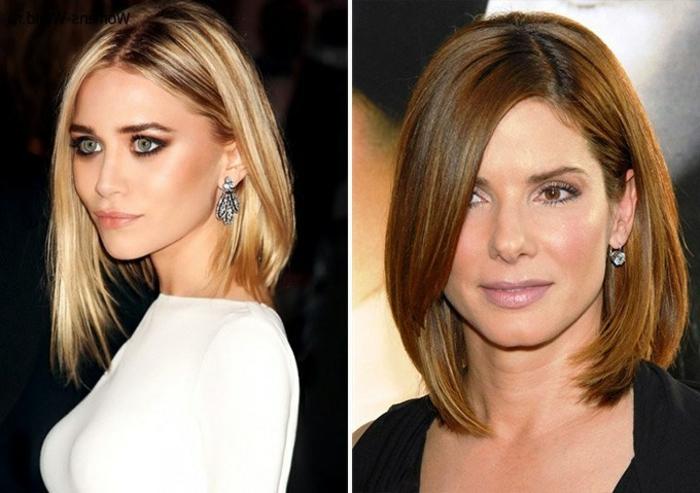 coupe au carré femme, carré asymétrique, deux femmes célèbres avec une coupe intemporelle