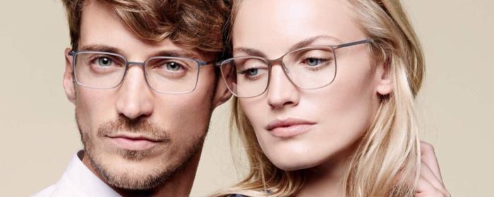 monture de lunette homme et femme, deux modèles tendance esprit 2018, montures en métal gris, lunette de vue homme tendance