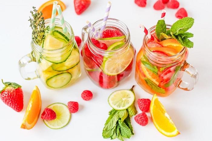 Idée boisson detox citron gingembre boisson rafraichissante detox boisson recette belle photo coloré