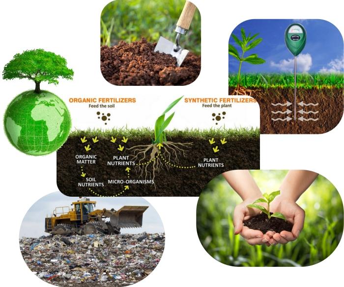facteurs et conditions pour apprendre comment faire un compost, illustration avec différence entre amendements organiques et synthétiques