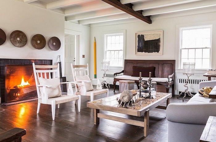 Décorer son salon comment amenager salon salle a manger rectangulaire cheminee salon rustique