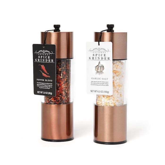 Déménager dans un nouvel appartement cadeau original pratique cadeau maison sel et poivre dans salière automatique cuivre