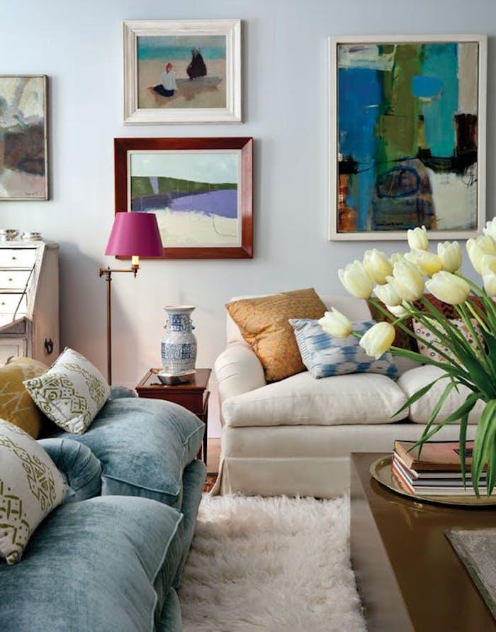 Idée déco appartement salon chargé de meuble tapis shaggy décoration d intérieur decoration appartement à faire