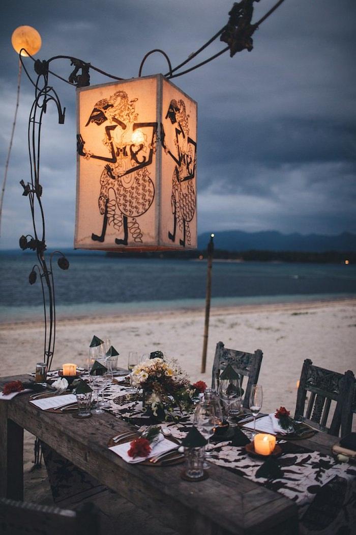 Centre de table mariage porte menu mariage decoration originale comment mettre les couverts sur une table mariage sur la plage
