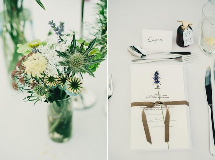 Menu de mariage porte menu mariage deco table mariage champetre