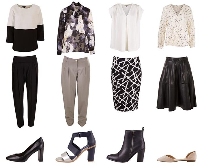 plusieurs idées comment assortir pièces pour une tenue professionnel smart casual, tenue d'entretien en jupe ou pantalon