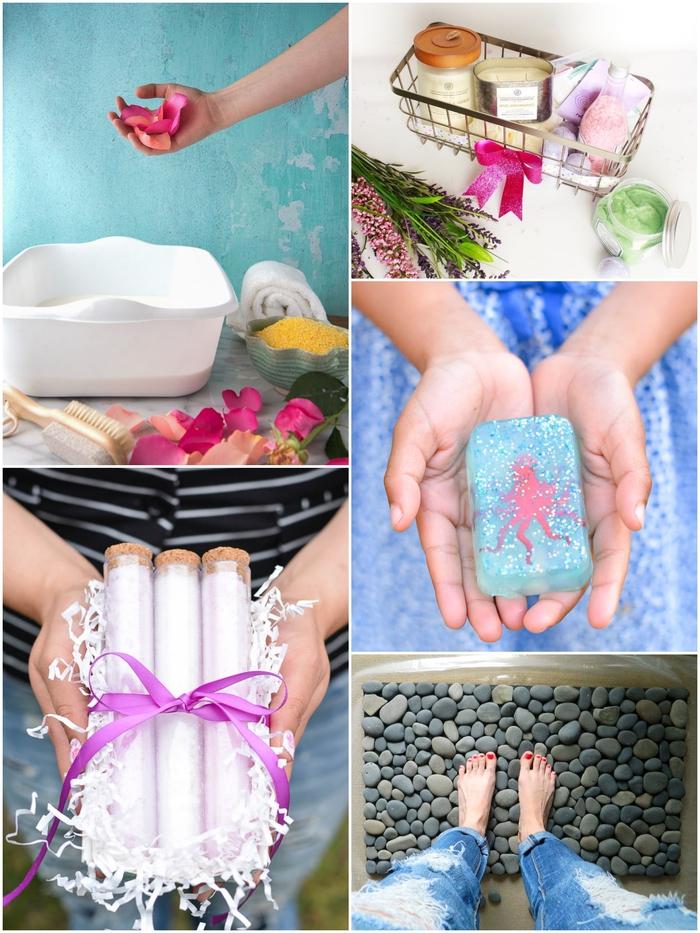 idée cadeau fête des mères à fabrique soi-même, des cadeaux de bien-être et de spa maison pour offrir quelques moments de détente à sa maman