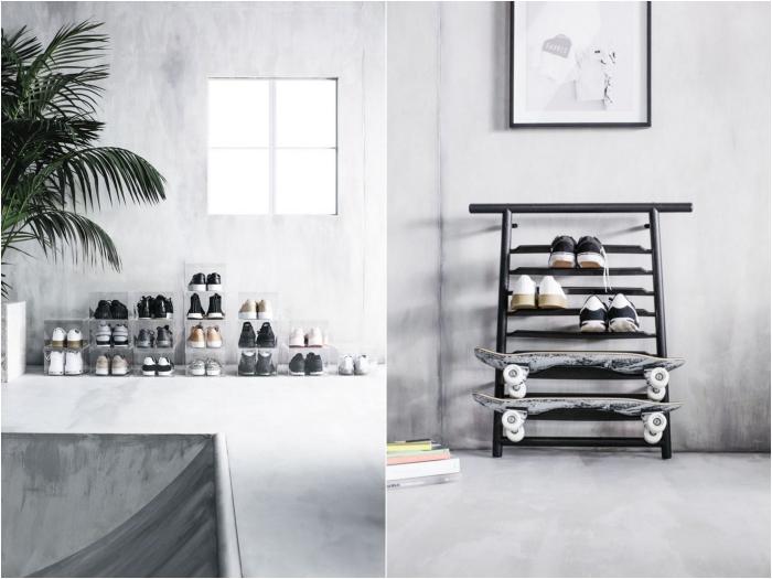 idées ingénieuses pour le rangement de la maison avec des meubles ikea, ikea meuble chaussure tendance