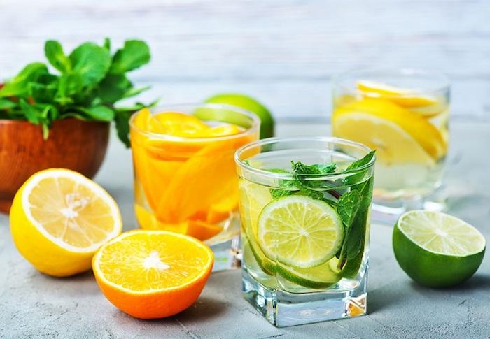 Thé detox maison eau detox chouette recette infusion pour maigrir boissons saines lime et citron