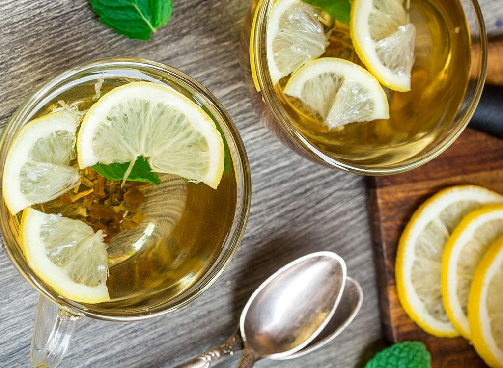 Boisson detox minceur maison perdre du poids boisson detox citron menthe thé limon et menthe ou eau detox