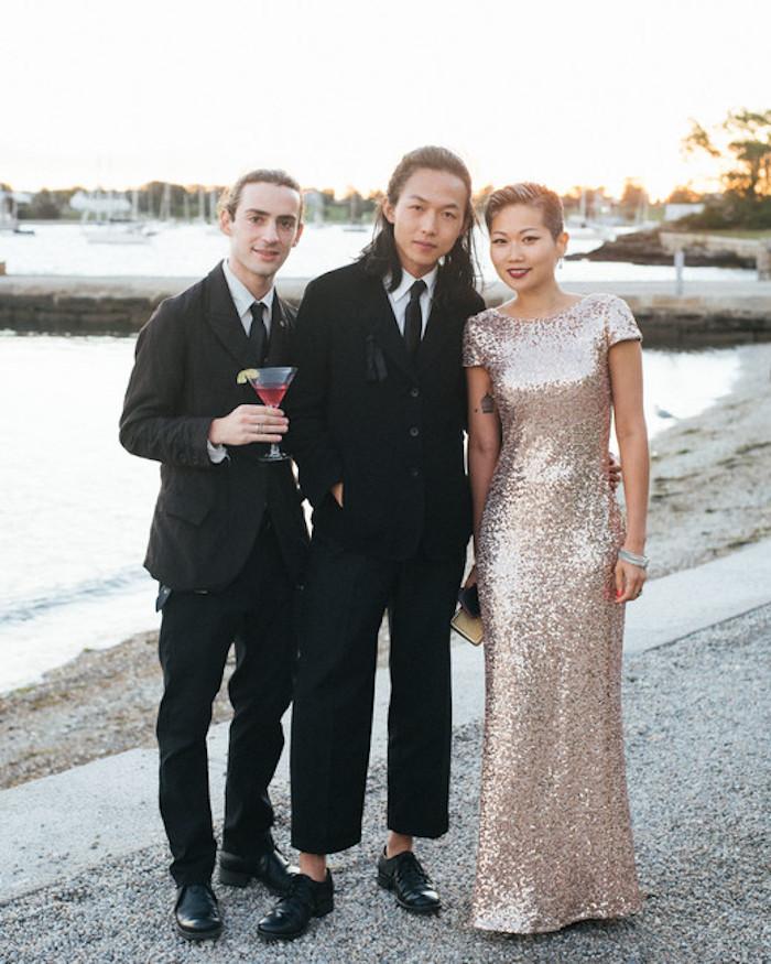 S'habiller bien pour mariage glam amie robe champetre élégante robe longue pailleté rose gold