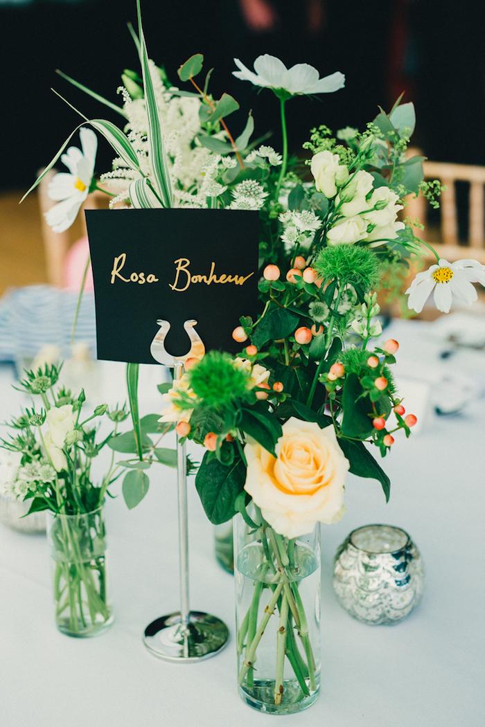Thème mariage porte menu mariage deco mariage a faire soi meme fleurs de foret cool idée déco bohème mariage