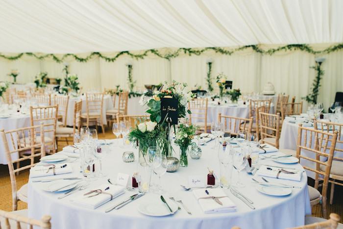 Décoration de table mariage décoration salle de mariage menu mariage