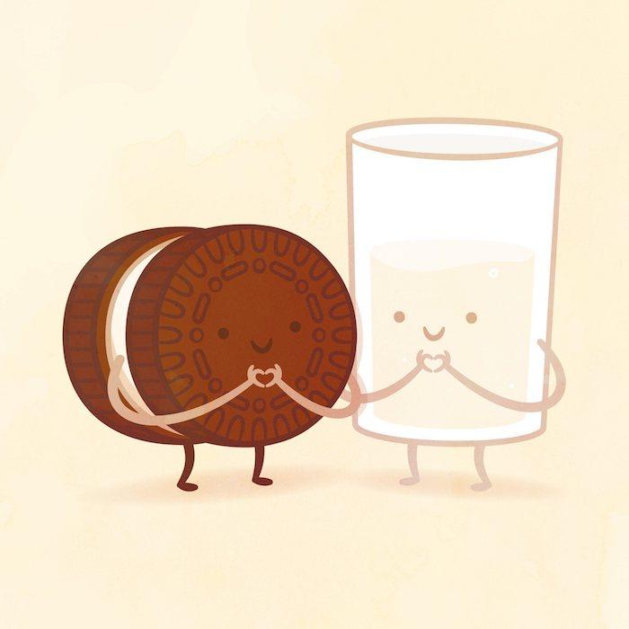 Image de dessin facile lait et oreo amour comment dessiner des kawaii copier un dessin joli