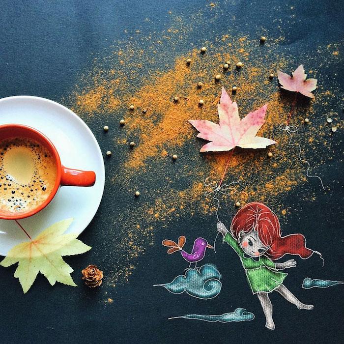 Dessin trop mignon original moyen de dessiner idée dessin des mignon le plus beau dessin chouette café