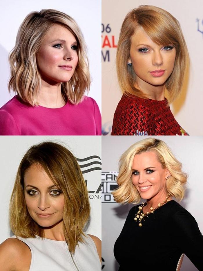 les variations de la coiffure carré plongeant sur cheveux mi longs, carré blond cheveux longs
