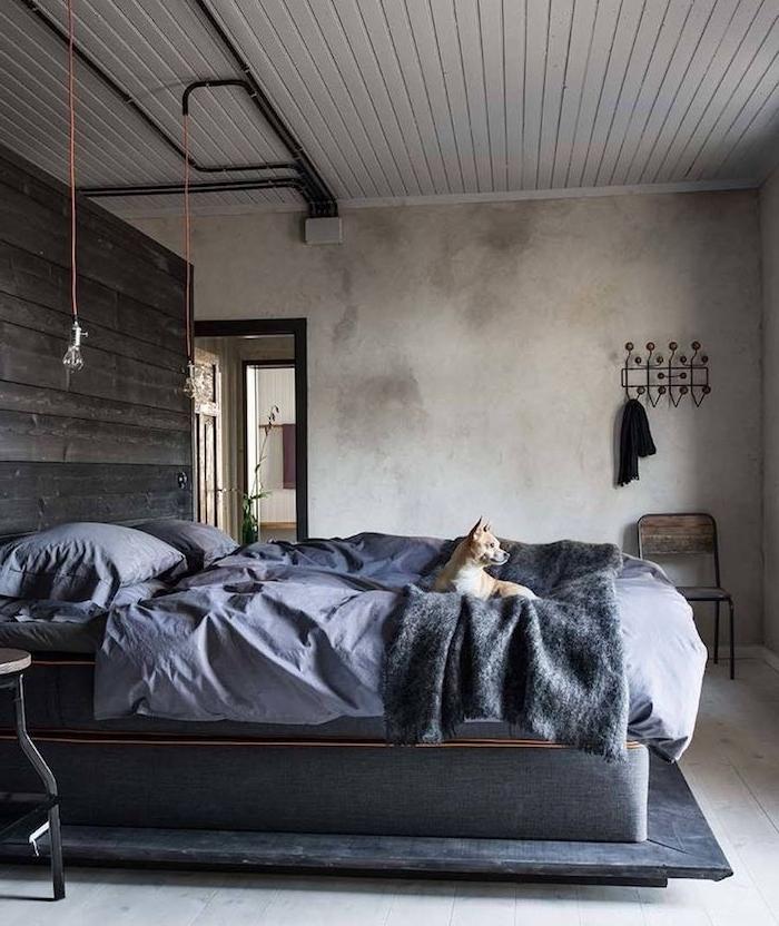 1001 id es top pour d corer une chambre style industriel - Tete de lit industriel ...