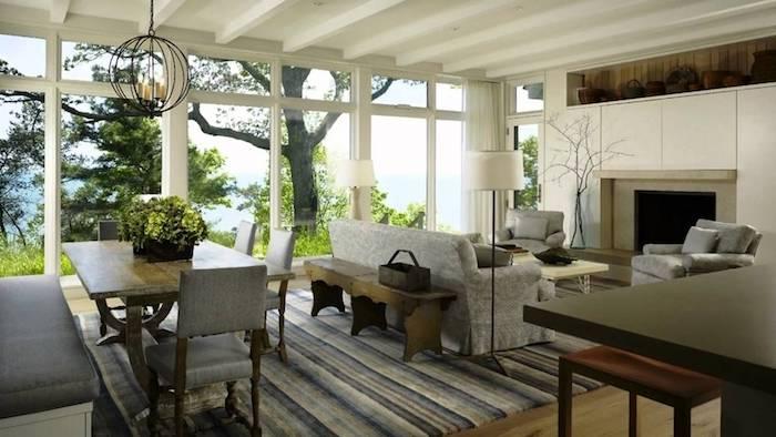 Décoration intérieure salon décorer son salon décoration intérieure salon magnifique chalet à la foret