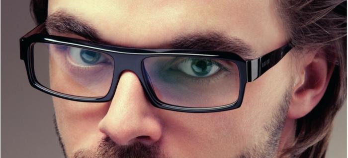 lunette hipster en plastique noire, lunette tendance 2018, lunette de vue aviateur, face d'homme virile, accessoire style aviateur, look homme moderne