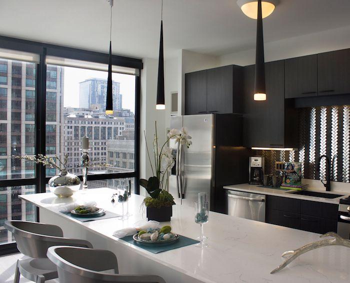 Appartement deco idée déco appartement aménagement studio 30m2 appartement moderne new yorkais cuisine et salon