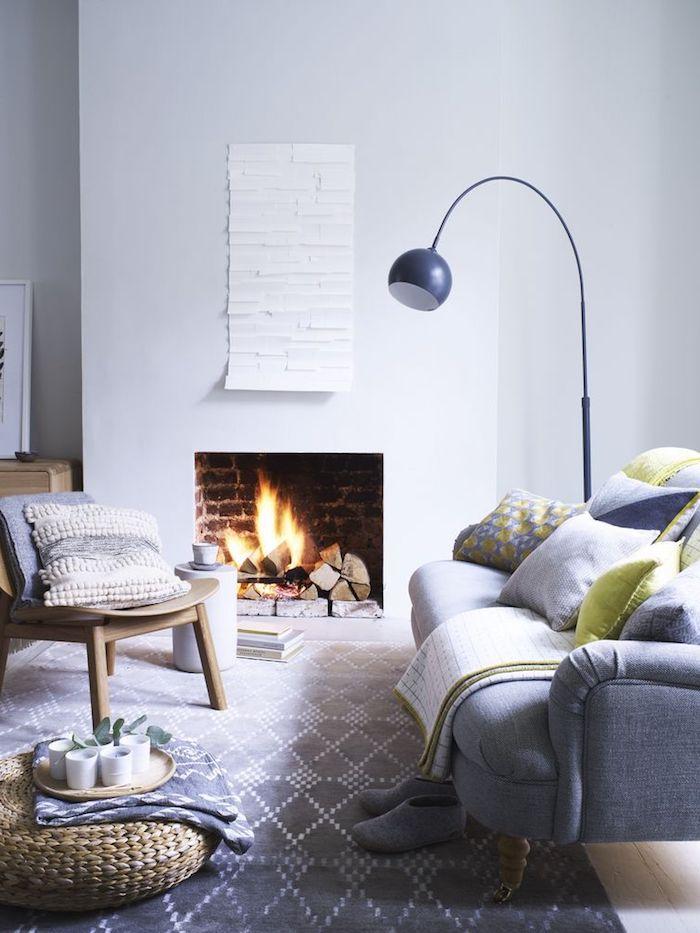 Salon cosy décorer son salon décorer son salon idée couleur salon déco cool idée cheminée coin confort