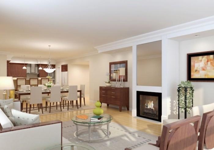 Amenager petit salon décorer son salon décoration intérieure salon qui donne à la salle à manger elegant en blanc et bois table basse ronde