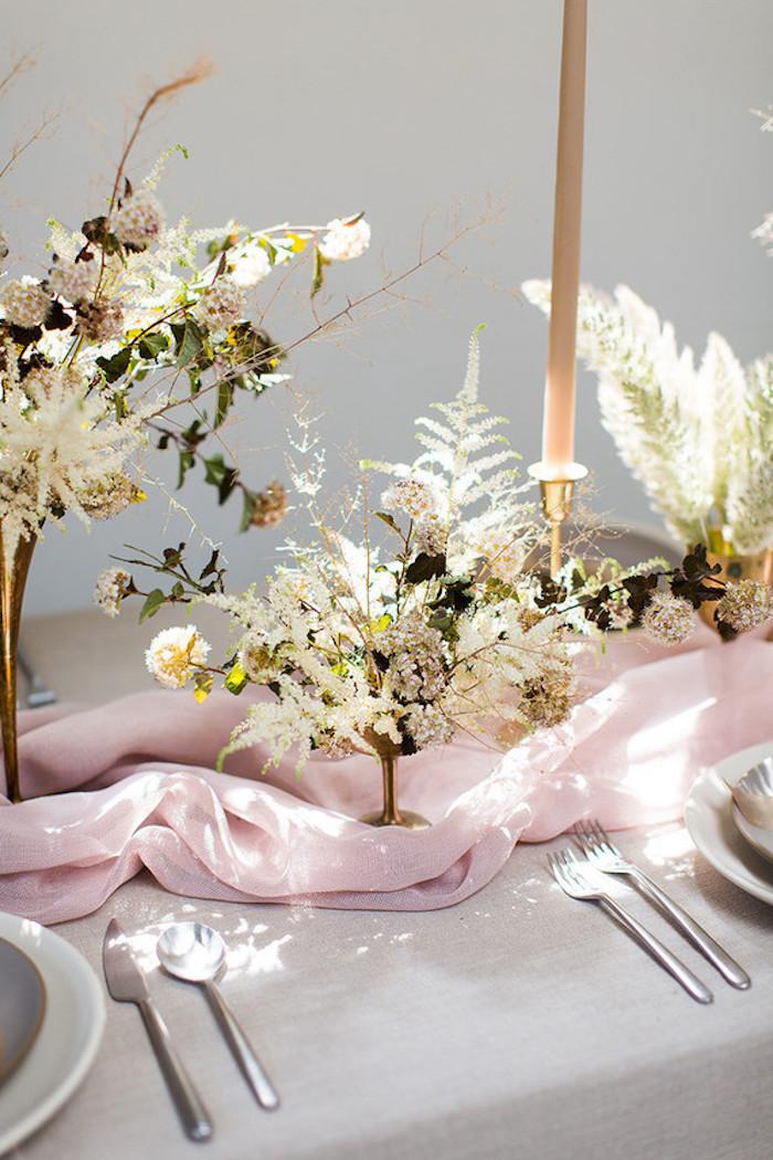 Deco mariage a faire soi meme décoration salle de mariage bohème chic automne déco de table simple