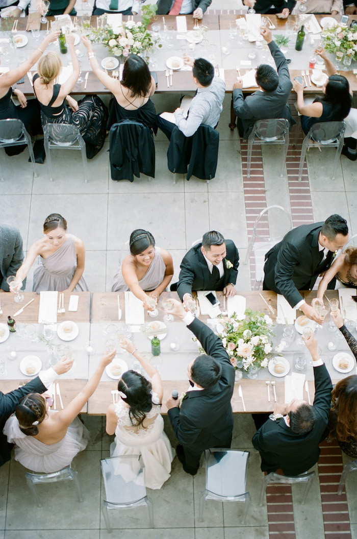 Comment décorer la salle de mariage réception élégante salle mariage chic réel photo de mariage originale de haut