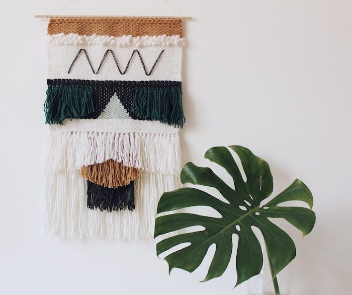 modele de tissage laine mural design comme élément déco style scandinave
