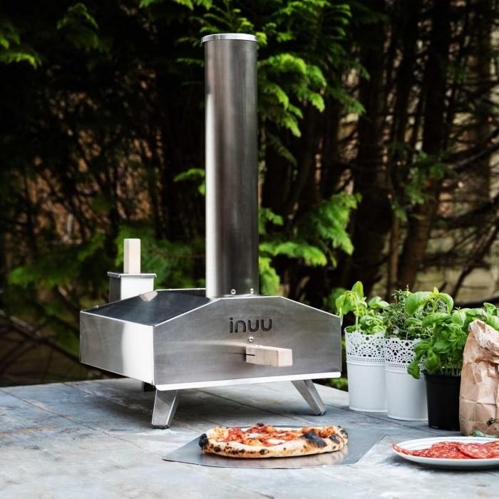 surprise pour un amateur de barbecue et cuisine, modèle de mini machine à pizza portable d'acier inoxydable