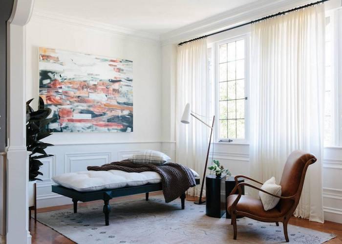 Appartement design décoration d intérieur nordique comment amenager son salon tableau art abstrait pour le salon