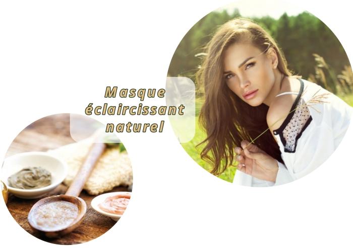 décoloration naturelle avec effet soleil cheveux longs, quels produits utiliser pour préparer une masque cheveux
