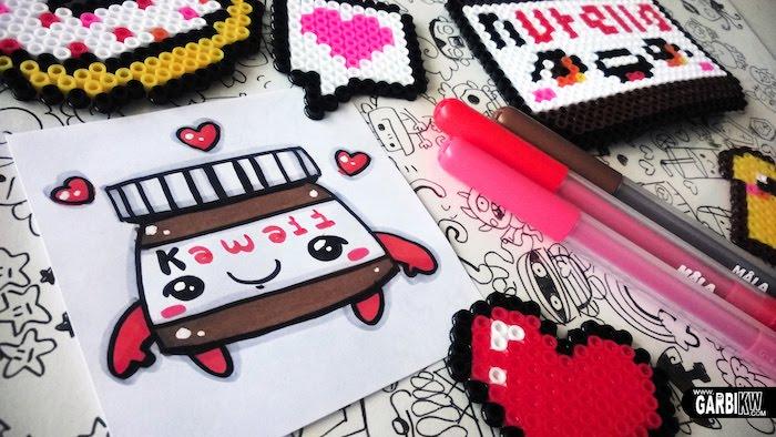 Idée déssin mignon dessin pikachu photo à copier image dessin à faire nutella kawaii dessin