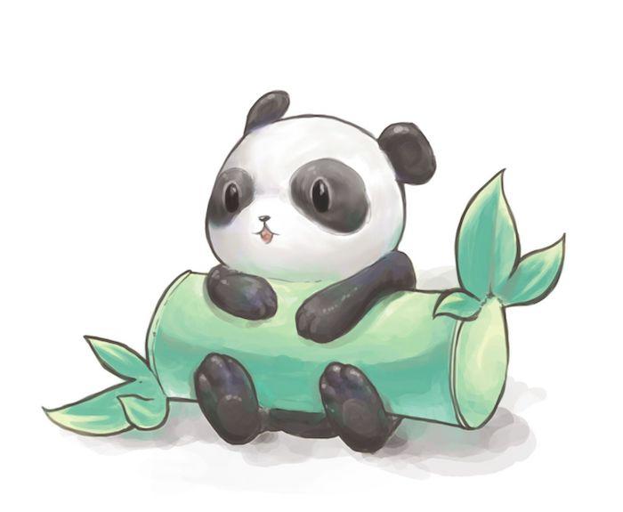 Dessin panda animé dessin animaux dessin de minion trop mignon grand yeux idée quoi dessiner