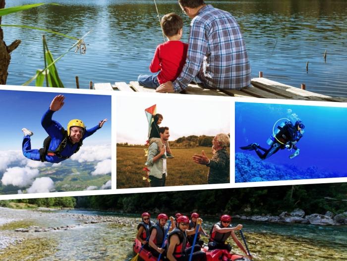 offrir une aventure ou expérience adrénaline comme une idee cadeau fete des peres, organiser une pêche entre fil et père
