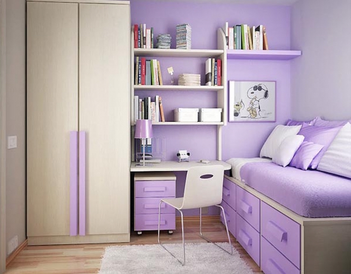 1001 id es peinture chambre fille variez les palettes. Black Bedroom Furniture Sets. Home Design Ideas