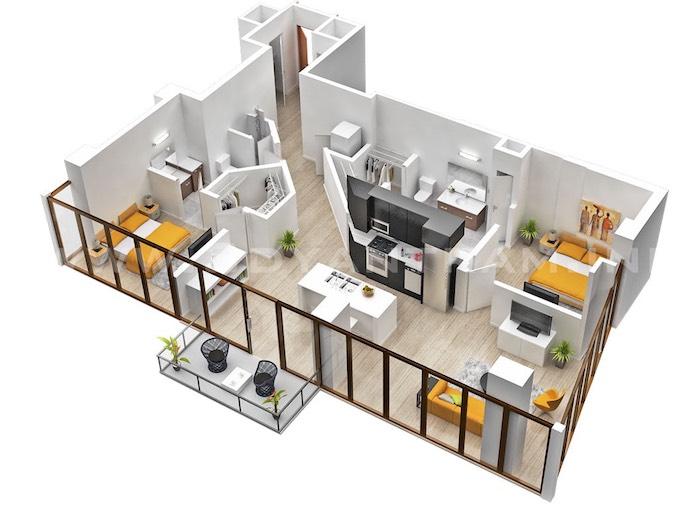 Idée déco studio idée déco appartement nordique deco suedoise style scandinave plan d étage