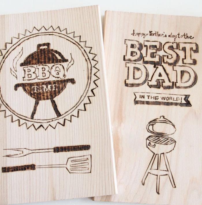 planche à découper personnalisée thème barbecue, idees cadeaux fete des peres a fabriquer soi meme