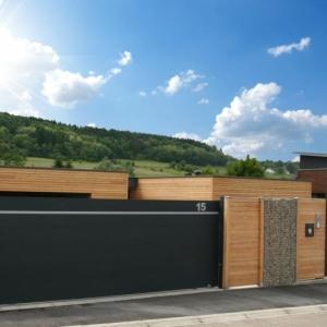Un portail en aluminium design et fonctionnel qui colle à votre espace