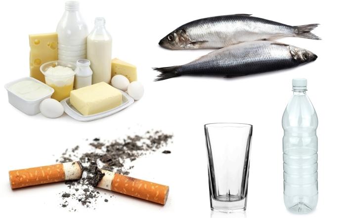 illustration avec les produits à éviter quand on fait un compost, produits laitières et mégots de cigarettes à ne pas utiliser dans un compost