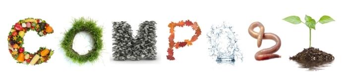 idée pour faire son compost de bois ou en plastique, illustration du cercle et des produits nécessaires pour compostage