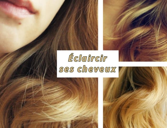 coiffure de cheveux longs et brillants avec boucles, comment donner effet soleil cheveux avec produits naturels