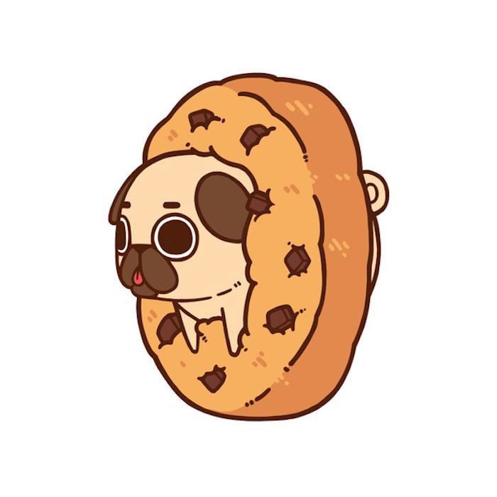 Modele dessin facile comment faire des dessins art design mignon art animation pug et beignet